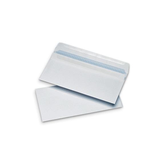 1000 DL 110x220mm Non Window White 90gsm Self Seal Wallet Envelopes